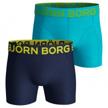 Bjorn Borg 2019 Neon Solid 2 Pack Mens Boxers