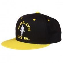 Golds Gym Mens Flat Peak Cap - Black/Yellow  One Size