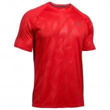 Under Armour  Mens UA Tech Novelty SS T Shirt - Red  S