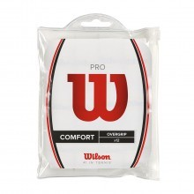 Wilson Pro Overgrip Tennis Grips - 12 Pack - White