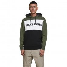 Jack & Jones 2021 Colour Block Logo Sweater Pullover Fleece Mens Hoody