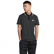 Jack & Jones 2021 Turk Contrast Textured Pique Short Sleeve Mens Polo Shirt