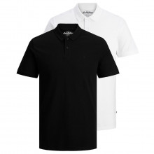 Jack & Jones 2021 Basic Casual Embroidered 2-Button 2 Pack Mens Polo Shirt