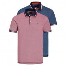 Jack & Jones 2021 JJEPaulos Short Sleeve 2 Pack Soft Feel Mens Polo Shirt