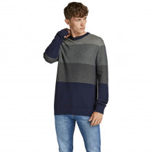 Jack & Jones 2021 Colour Block Knitted Crew Neck Pullover Mens Sweater