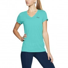 Under Armour Womens Theadborne Twist V Neck T-Shirt