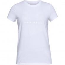 Under Armour Womens Sportstyle Mesh Logo Crew T-Shirt