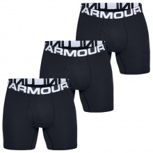 Under Armour Charged Cotton 6In 3 Pack Soft Stretch Performance Mens Boxers
