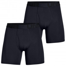 Under Armour Tech Mesh 4-Way Stretch 6In 2 Pack Mens Boxer Briefs
