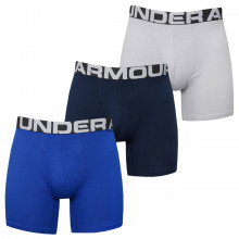 Under Armour 2020 Charged Cotton Wicking 4-Way Stretch 6in (3 Pack) Mens Boxers