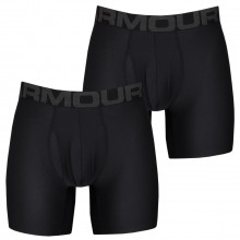 Under Armour 2020 Tech 6in Moisture Wicking 4-Way Stretch (2 Pack) Mens Boxers