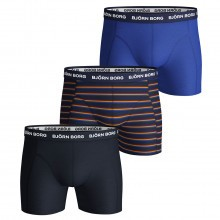 Bjorn Borg Mens French Stripe Boxer Shorts 3-Pack