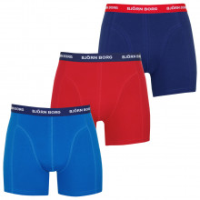 Bjorn Borg S Shorts Solid 3 Pack Mens Boxers