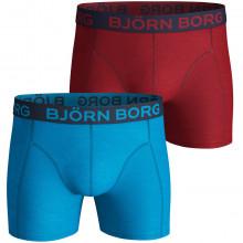 Bjorn Borg 2019 2 Pack Seasonal Solid Sammy Mid Rise Mens Boxers