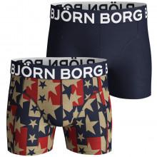 Bjorn Borg Starstruck Sammy 2 Pack Mid Rise Mens Boxers