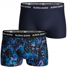 Bjorn Borg LA Leaf Scott Short 2 Pack Mid Rise Mens Boxers