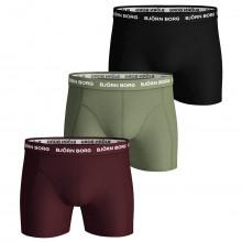 Bjorn Borg 2020 Seasonal Solids Sammy 3 Pack Comfort Mens Boxers