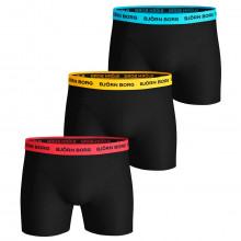 Bjorn Borg 2020 Neon Solid Sammy 3 Pack Comfort Mens Boxers