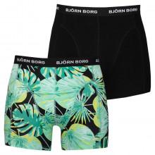 Bjorn Borg 2020 LA Garden Sammy 2 Pack Comfort Cotton Mens Boxers