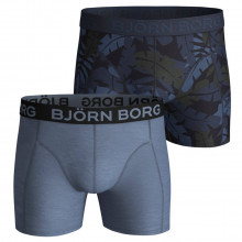 Bjorn Borg 2020 Jungle Sammy Stretch Microfibre 2 Pack Mens Boxer Briefs