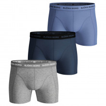 Bjorn Borg 2020 Seasonal Solid Sammy Stretch 3 Pack Mens Boxer Briefs