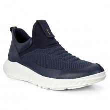 Ecco St1 Lite M Nightsky Breathable Lightweight Leather Mens Trainers