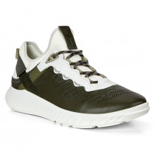 Ecco St1 Lite M Deep Forrest Leather Breathable Lightweight Mens Trainers