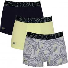 Lacoste 2020 5H5581 Stretch Fabric Crocodile 3 pack Mens Boxer Briefs