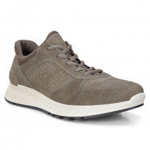 Ecco Exostride M  Zinnia Yak Leather Breathable Comfort Mens Trainers