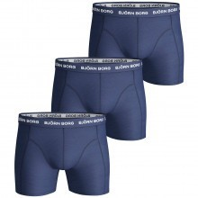 Bjorn Borg Mens Noos Solids 3 Pack Boxer Briefs
