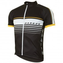 Dare 2b Mens Full Zip Mettle Cycle Jersey Lightweight Short Sleeve