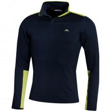 J. Lindeberg Garry Moisture Wicking Stretch 1/4 Zip Mens Golf Sweater