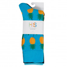 Happy Socks 2021 Waterfall Pineapple Novelty Cotton Comfort 3-Pack Mens Socks