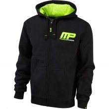 MusclePharm Mens Full Zip Hoody Gym Sweatshirt Training MP Hoodie