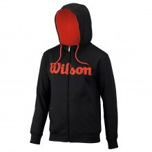 Wilson Mens Script Cotton Full Zip Hoody