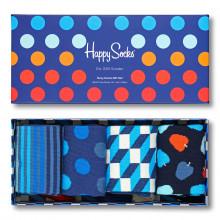 Happy Socks 2020 4-Pack Gift Box Regular Fit Comfort Cotton Mens Socks