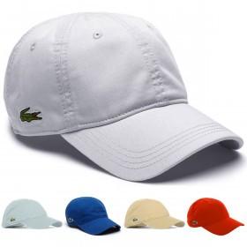 e1f83fc5ec3 Lacoste Unisex RK9811 Adjustable Cotton Plain Cap